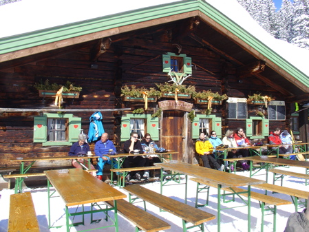 A typical mountain-side bar in Saalbach