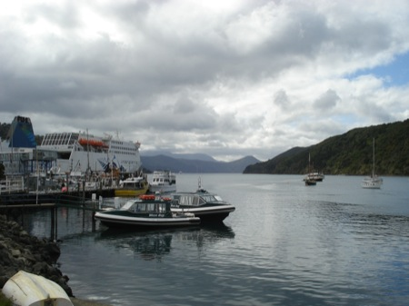 Ferry from Picton to Wellington - formally an English channel ferry