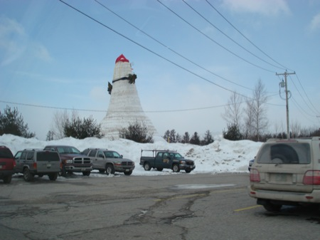The world's tallest SnowWoman, Bethel, Maine