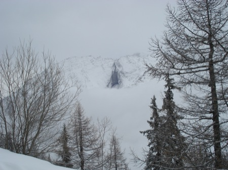 Avalanche at Courmayeur