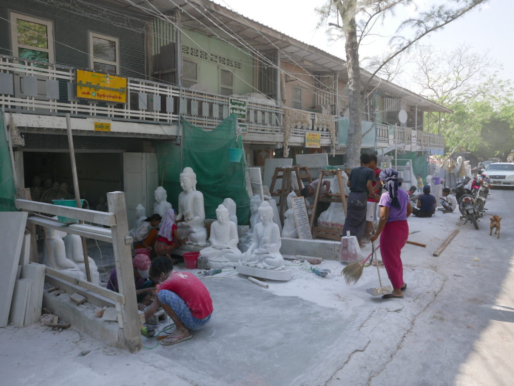 mandalay stone carving - the air was thick with dust
