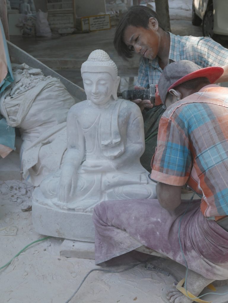 mandalay stone carving